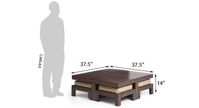 A dimensioned view of the table